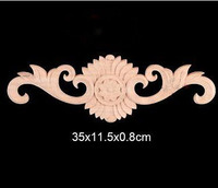 35x11 5x0 8cm Wood Shavings Shaped Flowers Decal European Wood Trim Chinese Furniture Decoration