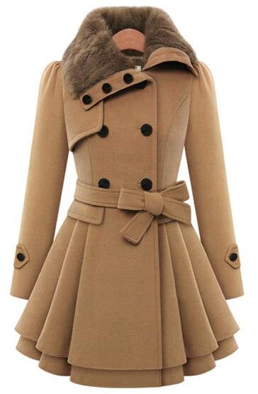 Autumn Winter Women's Thick Long Woolen Jacket Double ...