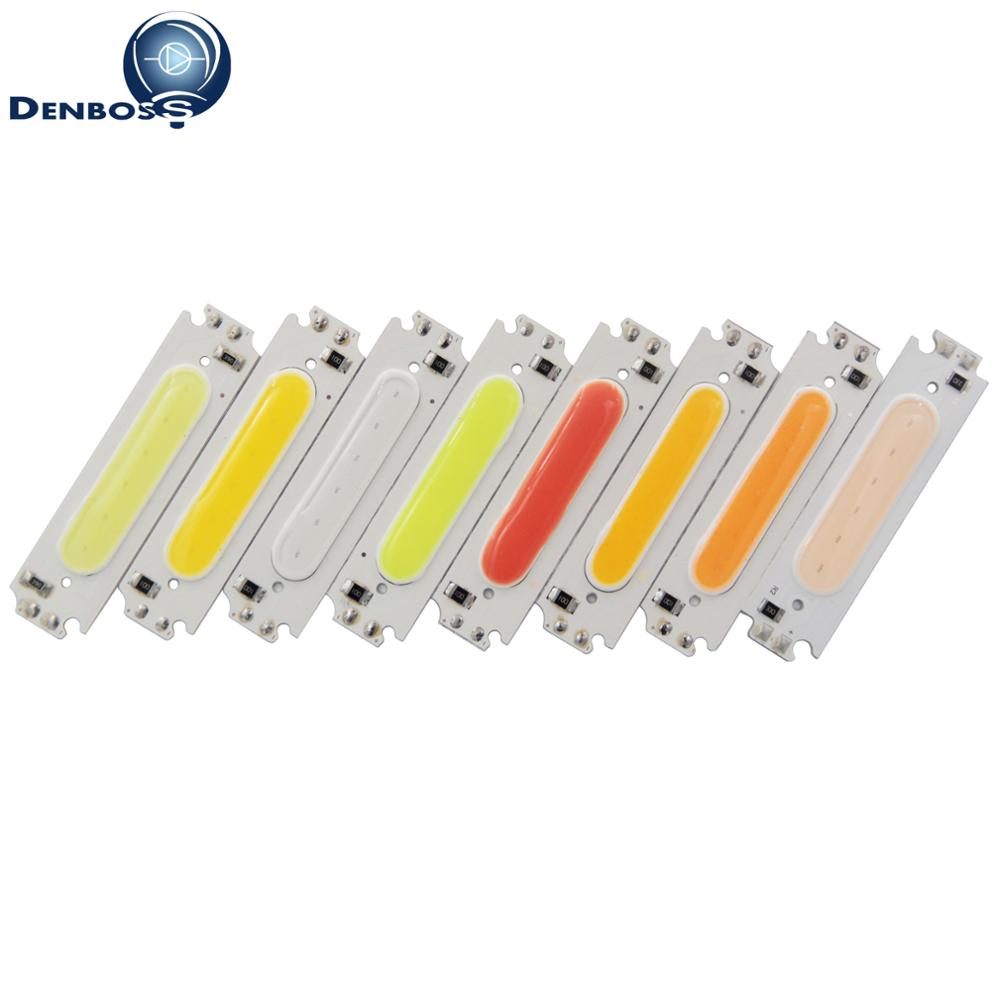 Hot sale big promotion 60*15mm LED COB Strip Light Source moudle Colorful COB LED bulb 12V DC 2W FLIP Chip for DIY Car Lamp clarins joli rouge губная помада 738 royal plum