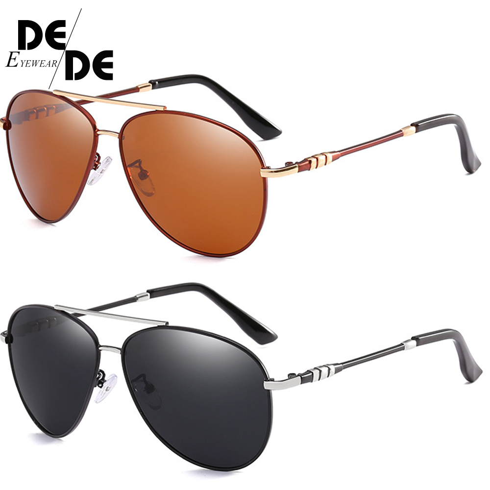 Hot Polarized Sunglasses Classic Pilot Metal Frame Sun Glasses for Driving Retro Vintage Goggles Mirror Lens Gafas UV400 130 in Men 39 s Sunglasses from Apparel Accessories