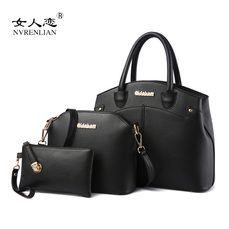 New Famous Brand Design Women Bags Fashion Ladies Messenger Bags Handbags PU Leather Female Shoulder Composite Bag 3 Pcs Set famous brand high quality handbag simple fashion business shoulder bag ladies designers messenger bags women leather handbags