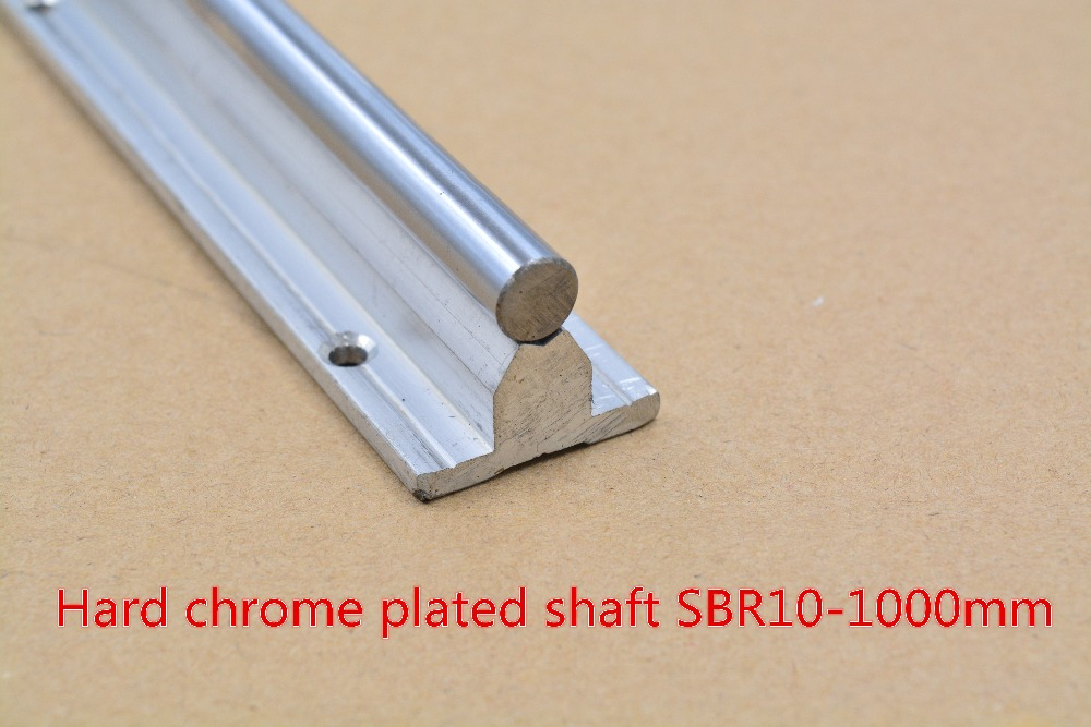 SBR10 linear guide rail length 1000mm chrome plated quenching hard guide shaft for CNC 1pcs