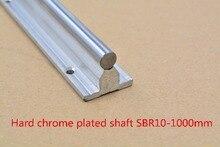SBR10 линейной направляющей Длина 1000 мм хромированный тушения жесткий руководство вал для ЧПУ 1 шт.
