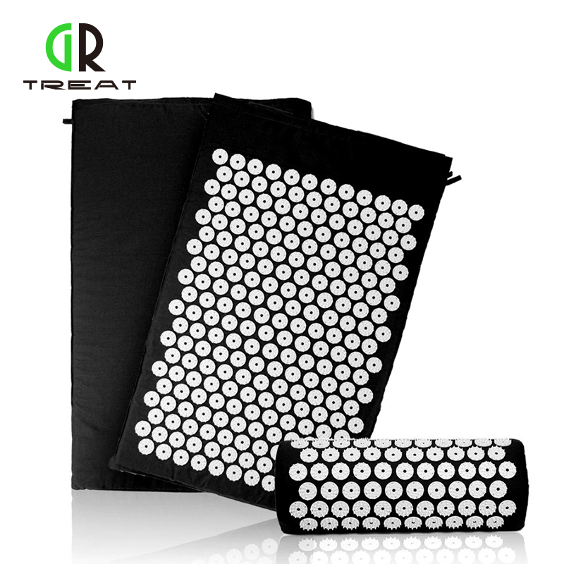Acupressure Mat And Pillow Set Massage Mat For Natural Relief of Stress Pain Tension Body Head Back Foot Massage Cushion Mat plush winter emoji slippers indoor animal furry house home men slipper with fur anime women cosplay unisex cartoon shoes adult