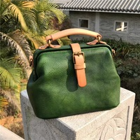 2018 women bag genuine leather casual panelled doctor handbags high quality messenger bags