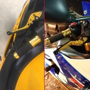 Image 5 - Suzuki DL1000/V STROM 용 2002 2016 오토바이 액세서리 DL1000 로고가있는 오토바이 알루미늄 조절 식 브레이크 클러치 레버