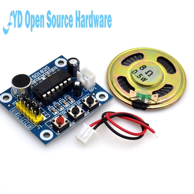 1pcs ISD1820 Voice Recording Recorder Module With Mic Sound Audio Loudspeaker