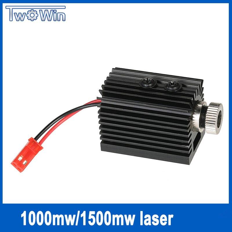 1000mW /1500MW Blueviolet Light 405nm Laser Head with Screwdriver for laser engraver for CNC laser Carving Engraving