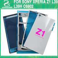 New Z1 Battery Cover For Sony Xperia Z1 L39 L39H C6902 Back Cover + Front Middle Bezel Frame Plate Housing Case