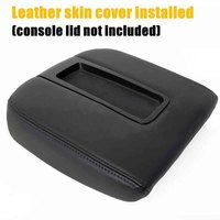 MAYITR Black Leather Car Center Console Lid Armrest Cover Arm Rest Seat Box Pads Protective Case