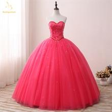 Bealegantom New Real Photo Sweetheart Quinceanera Dresses 2019 Ball Gown Beaded Tulle Sweet 16 Dress Vestidos De 15 Anos QA1305