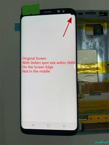 Image 2 - الأصلي سوبر AMOLED لسامسونج غالاكسي S8 S8 زائد G950f G950 G955 G955F عيب Lcd عرض تعمل باللمس محول الأرقام مع الإطار