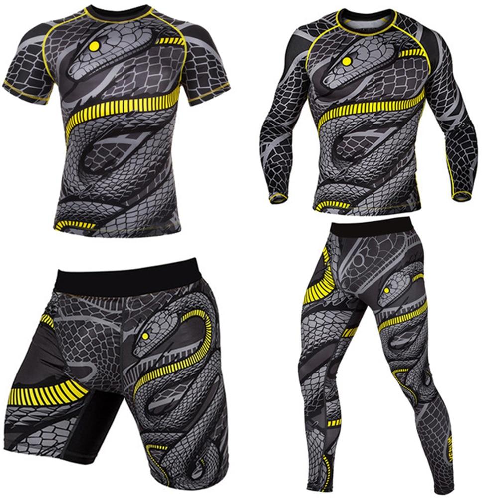 Snake KickBoxing Mma Shorts T shirt Mma Long Pants Rashguard Boxe Shorts mma shirt Muay Thai