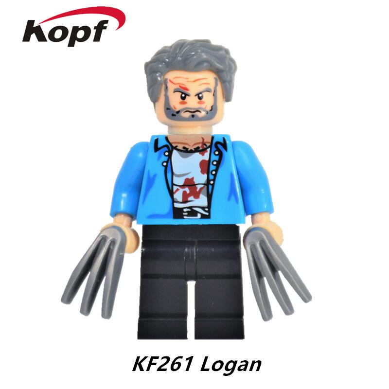 Super Heroes Untitled Wolverine Sequel Old Logan Weapon X X-23 Professor X Bricks Building Blocks Best Children Gift Toys KF261 building blocks super heroes back to the future doc brown and marty mcfly with skateboard wolverine toys for children gift kf197