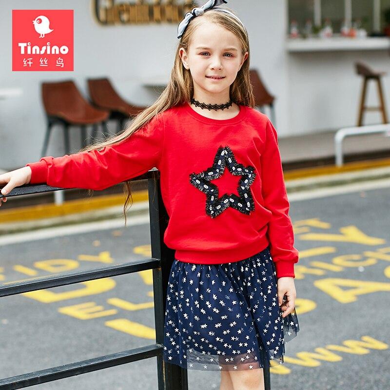 Tinsino Girls Autumn Clothing Sets Children Girl Spring Outerwear T-shirts Sweatshirts + Mesh Skirts Kids Girl's Fashion Clothes