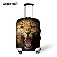 Newest 3D Printed Wolf Animals Luggage Protective Dust Cover Waterproof Tavel Suitcase Handle Storage Bag Protable