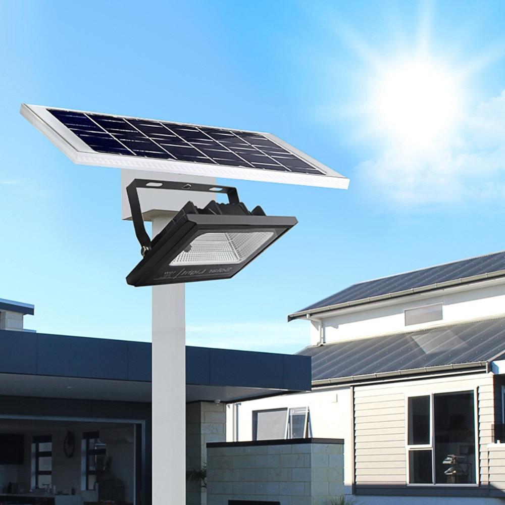 Remote Control Solar Flood light Full Watt 10W 4000mA Solar Panel Power lamp Waterproof Garden Yard