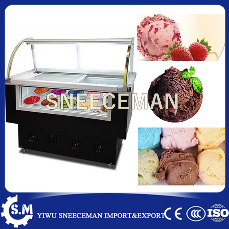 Ice Cream Showcase Freezer, Ice Cream Display Cabinet Freezer