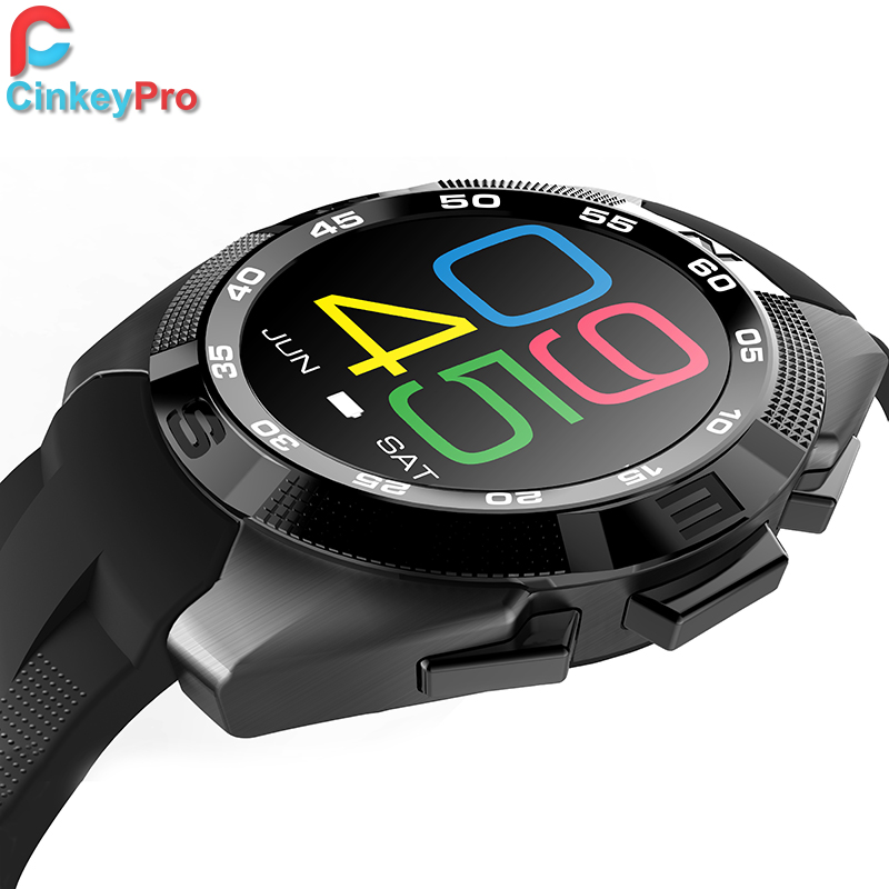 CinkeyPro Sport Smart Watch Men G5 IPS Pedometer Heart Rate Health Smartwatch for iPhone iOS Android