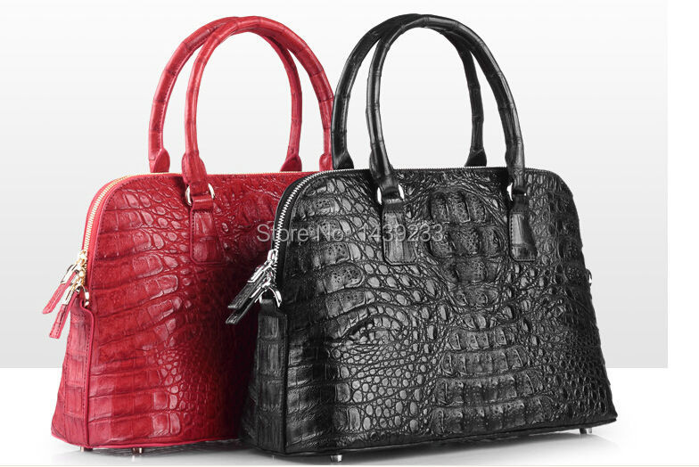 100% genuine alligator leather handbag 2016 fashion crocodile skin tote bag free shipping pinetti beauty case