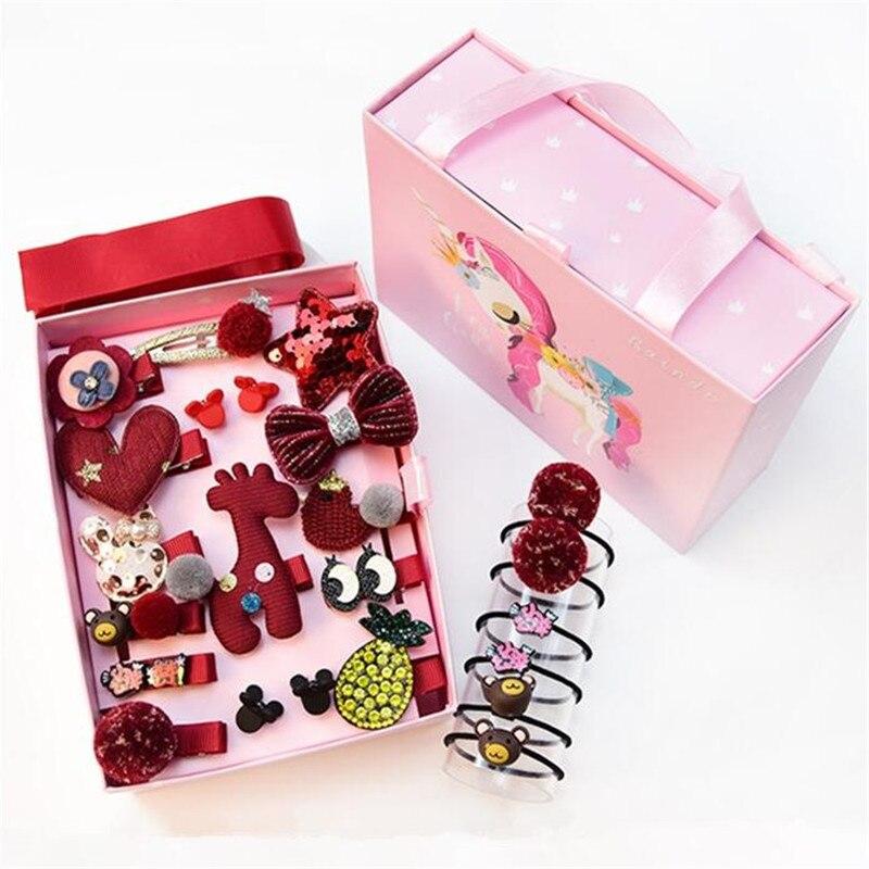 1 Gift Set Cute Cartoon Princess Flower Hairpins Children Girls Kids Hair Clips Bows Grip Barrette Accessories Hairclip   Headwear