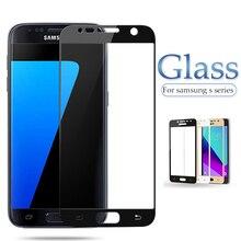 ป้องกันสำหรับ Samsung s7 s6 s5 s4 s3 ป้องกันหน้าจอ Glas บนสำหรับ Galaxy S 3 4 5 6 7 c 5 วินาที 7 วินาทีเต็มรูปแบบฟิล์ม