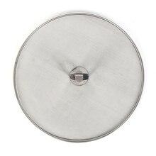 Серебряная маслостойкая крышка сковороды из нержавеющей стали для жарки с защитой от разлива