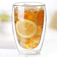 Durable Safe Reliable Double Wall Glass Coffee Cup Tea Water Milk Home Cup Office Supplies 250