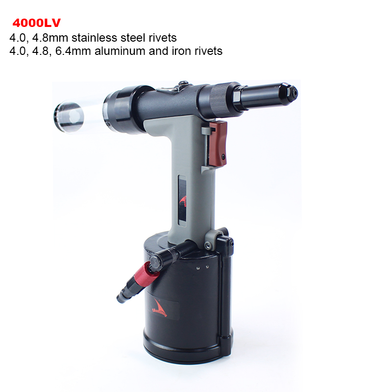 YOUSAILING Quality 4000LV 4.0-6.4mm Pneumatic Hydraulic Rivets Gun Vacuum Rivet Guns For Riveting 4.8mm Stainless Steel Rivets