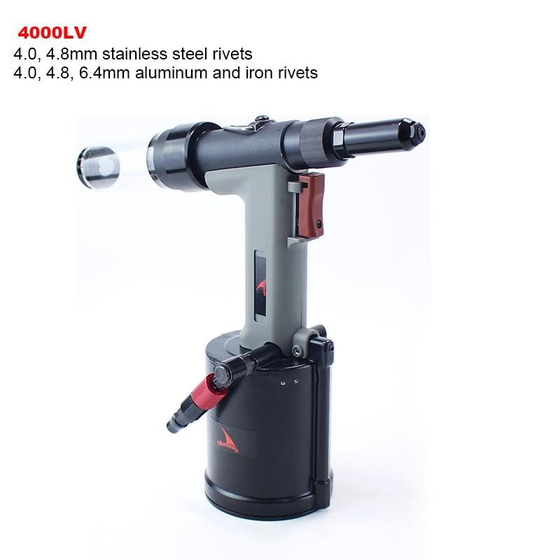 YOUSAILING Quality 4000LV 4.0-6.4mm Pneumatic Hydraulic Rivets Gun Vacuum Rivet Guns For Riveting 4.8mm Stainless Steel Rivets