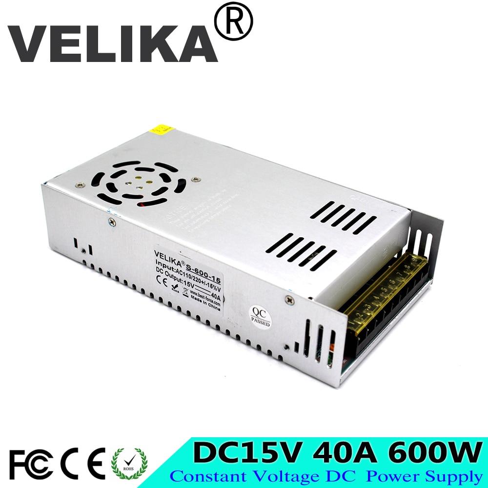 Best quality Single Output 600W 15V 40A Switching Power Supply Transformer 110V 220V AC TO DC15V