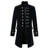 Helisopus Men Fashion Punk Style Jackets Autumn Vintage Long Sleeve Gothic Halloween Jacket Outfits Coat