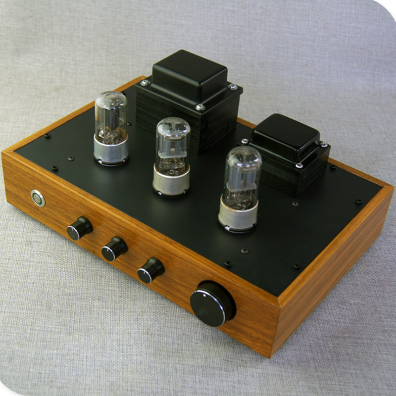 latest promotional crude wood case 6N8P tube preamplifier 6Z5P tube rectification Tube amp Tube preamplifier with Tone preamp-in Amplifier from Consumer Electronics    1