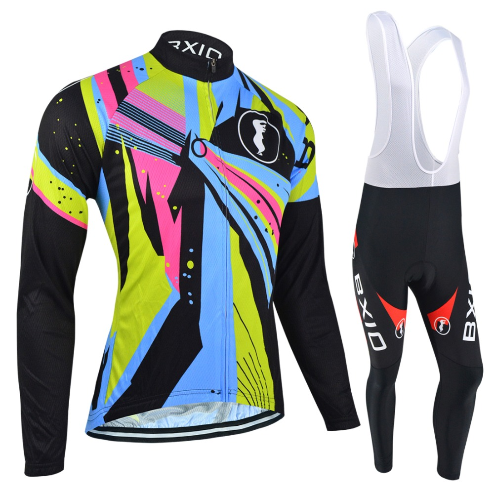 BXIO Cycling Clothing Winter Bike Jerseys Warm Long Sleeve Pro Team Bicycle Clothes Invierno Roupa Ciclismo MTB Cycle Jersey 054 цена