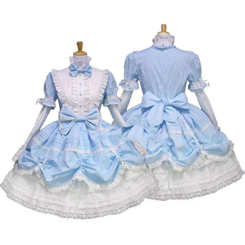 69feeff3b3eb Alice Angle Halloween Cosplay Cute Maid Detachable Sleeves Anime High  Collar Gothic Anime Dress Girl Princess