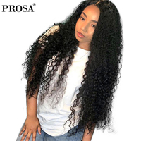 13x6 Lace Front Human Hair Wigs For Women Natural Black Pre Plucked Full 250 Density Brazilian Curly Human Hair Wig Remy Prosa