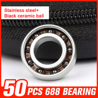 50pcs 688 9 Beads Ceramic Ball Bearing For Long Time Fidget Spinner Online Wheel Roller Skating