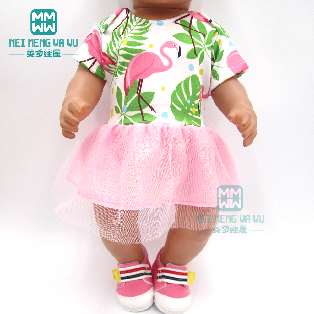 Doll Clothes For 43 Cm Baby New Born Doll Fashion Cartoon Skirt Girl Dress