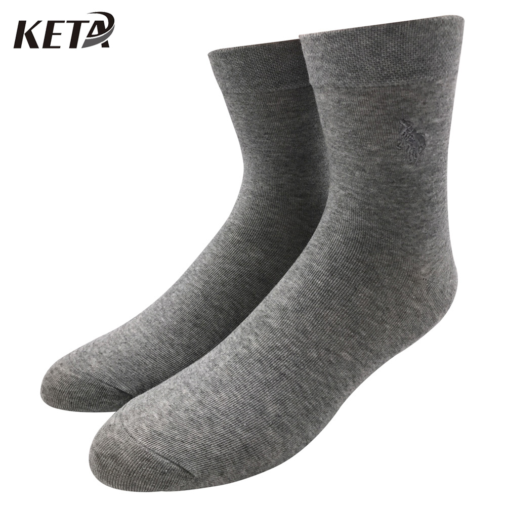 KETA Fashion Brand PIER POLO Men Business Socks Pure Color Cotton Socks Foe Male Classic Crew Breathable Sox Dress Socks