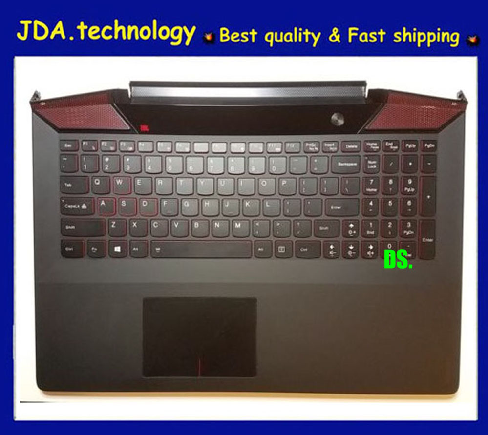 Original Palmrest topcase for Lenovo IdeaPad Y700 Y700-15 Y700-15ISK Upper cover TOUCHPAD US KEYBOARD BACKLIT AP0ZF000300