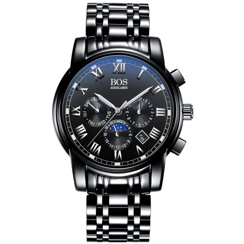 Relogio Masculino Top Brand Luxury Stainless Steel Quartz Watch Men Date Week Month Waterproof Luminous Business   Mens Watches top luxury brand full stainless steel watches men business casual ultra thin quartz wristwatch waterproof date relogio masculino