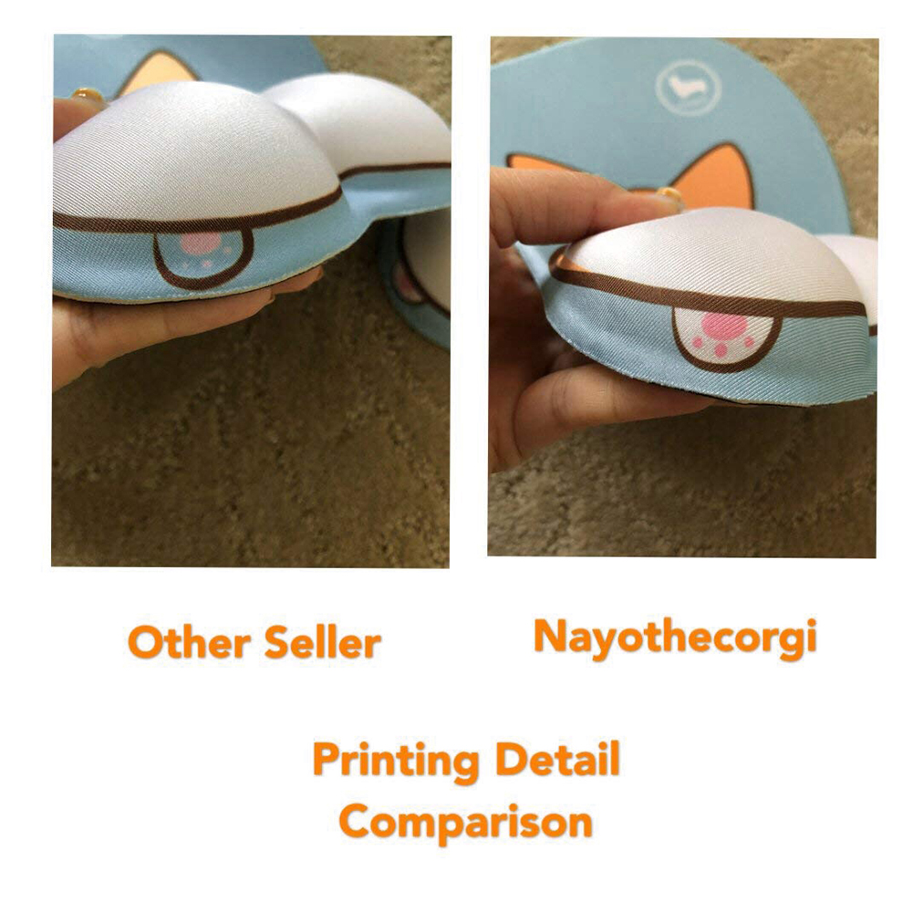 Image 3 - Gaming Office Cute Cartoon Corgi Dog Butt 3D Silicone Wrist Rest Mouse Pad Mat Wrist Rest-in Mouse Pads from Computer & Office