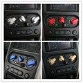 3 Unids/lote Centro de Dirección De Aleación de Aluminio de Moldeo Cubierta de Pegatinas de Panel de Control de Botón de CA Adecuado Para Suzuki Jimny Coches Accesorios
