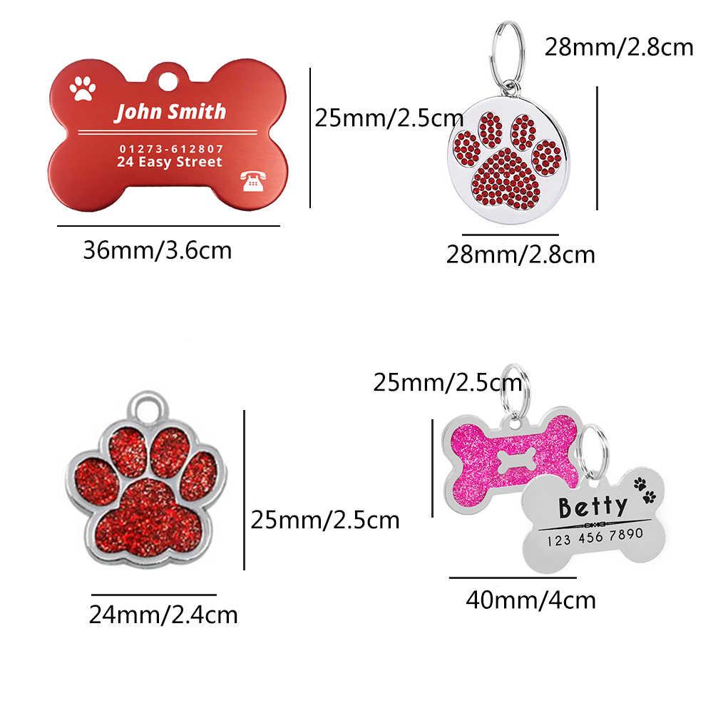 Terukir Anjing ID Tags Pribadi Logam: Untuk Anjing Kecil Nama Kerah untuk Kucing Disesuaikan Nama Kategori Hewan Peliharaan Anjing Aksesoris MP0078