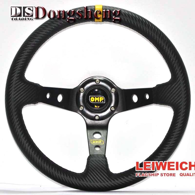 350MM Carbon fiber Racing Aluminum Frame Light Weight 6 Hole Steering Wheel Modified Jdm Sport