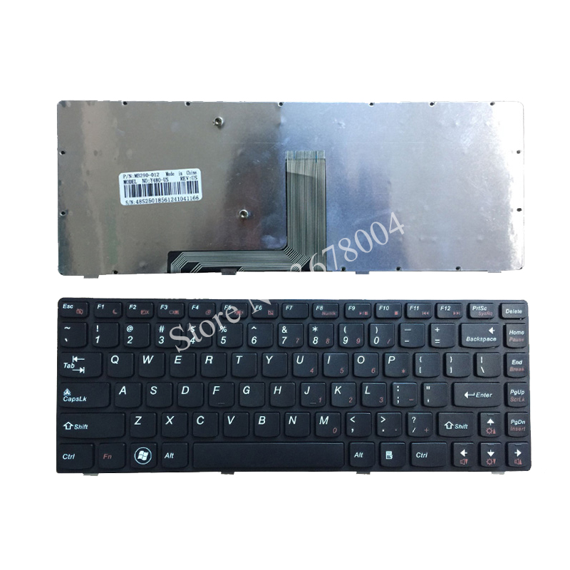 Laptop Keyboard for Lenovo Y480 Y480A Y480M Y480N Y485 Y485P English US 250150118 23B03-US V133020AS1 Black Frame with Backlit