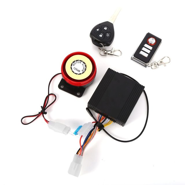 New 9 - 15V Professional Waterproof Anti-theft Motorcycle Security Remote Driving Alarm System with Key Automatic Engine Start