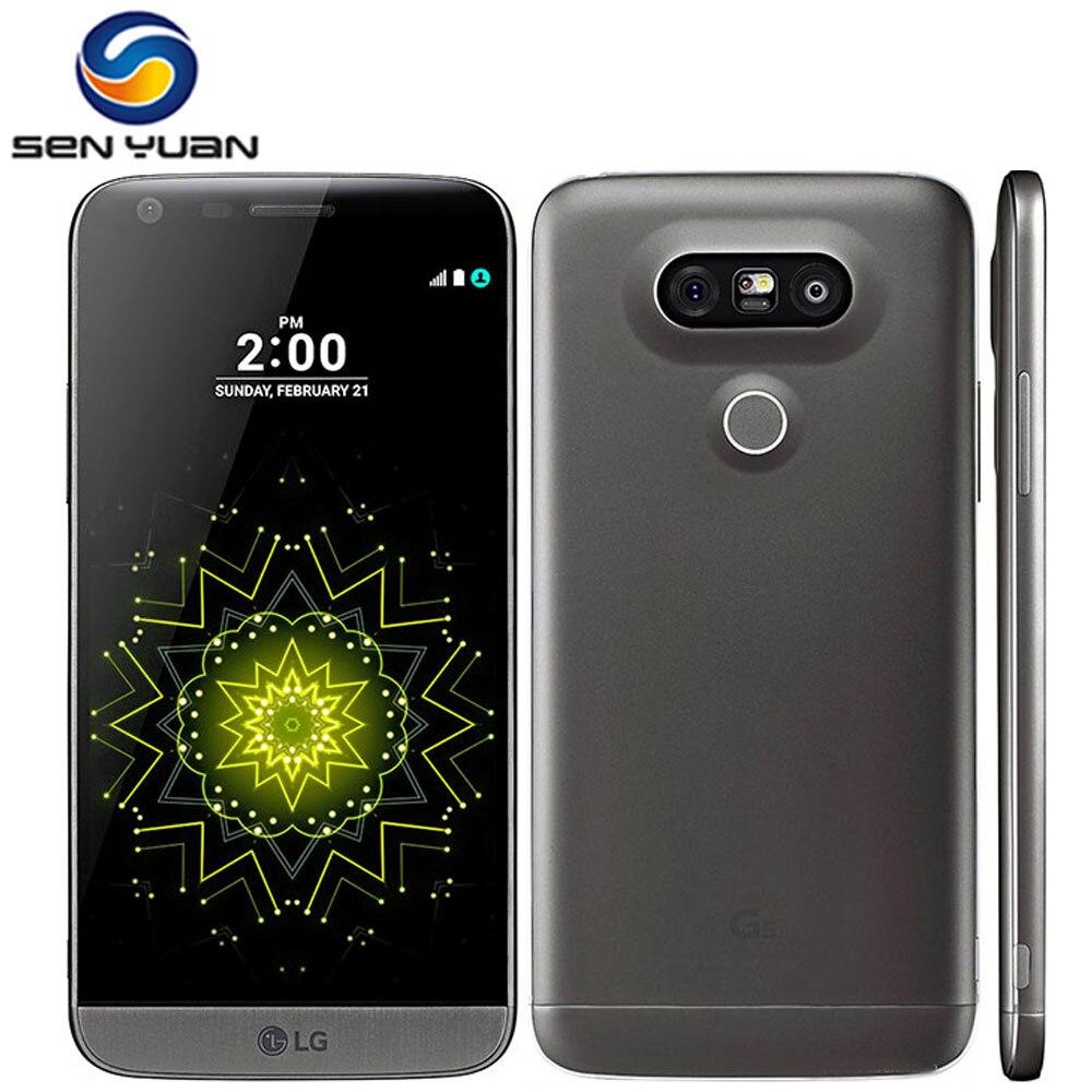 """Цена за Оригинальный LG G5 четырехъядерный Мобильный Телефон 4 ГБ RAM 32 ГБ ROM 5.3 """"Toush экран 16MP Камера 4 Г WI FI GPS Сотовый Телефон"""