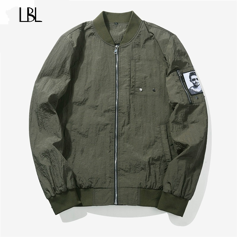 USA Size M-3XL Jacket Men Spring Waterproof Thin Solid Simple Camouflage Coats Male Casu ...