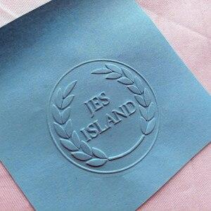 Image 5 - ホットカスタマイズエンボススタンプあなたのロゴ、パーソナライズエンボスシールのためのレターヘッド結婚式の封筒 Gaufrage スタンプ